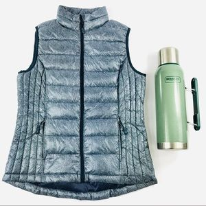 36° Degrees Metallic Blue Puffer Vest